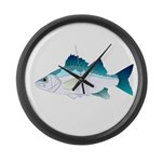 White Perch Large Wall Clock