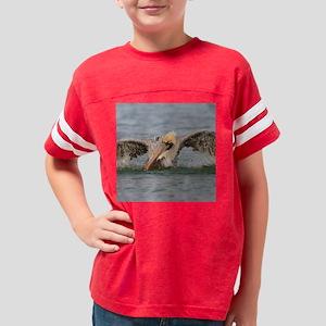 Funny Grumpy Pelican Youth Football Shirt