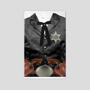 Black Vest and Gun 3'x5' Area Rug