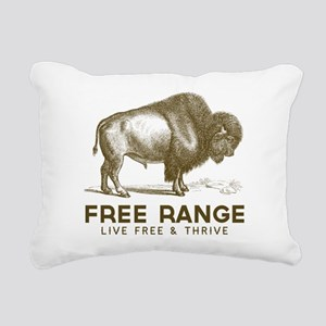 Free Range Rectangular Canvas Pillow