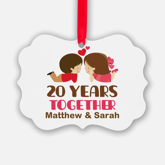 20th Anniversary Personalized Gift Ornament