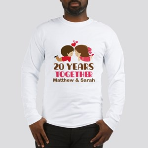 20th Anniversary Personalized Gift Long Sleeve T-S