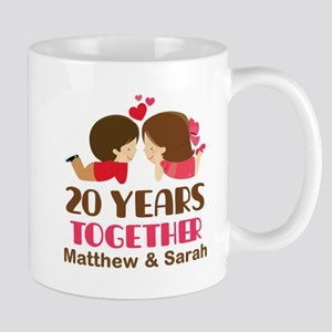 20th Anniversary Personalized Gift Mugs