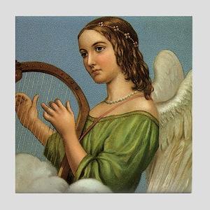 Vintage Christmas Angel Tile Coaster