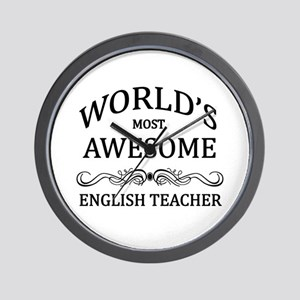 World's Most Awesome English Teacher Wall Clock