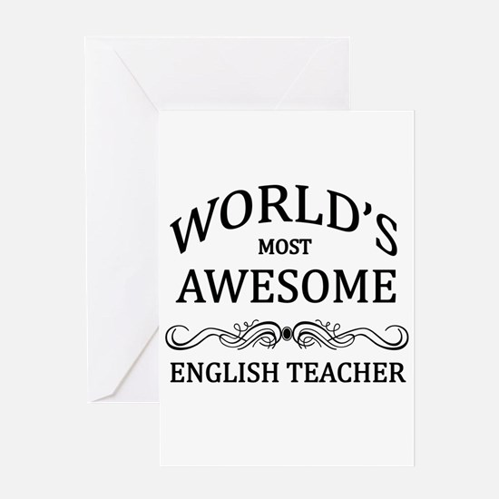 World's Most Awesome English Teacher Greeting Card