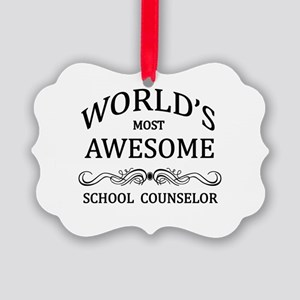 World's Most Awesome School Counselor Picture Orna