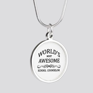 World's Most Awesome School Counselor Silver Round