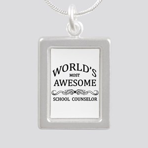World's Most Awesome School Counselor Silver Portr