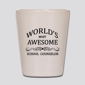 World's Most Awesome School Counselor Shot Glass