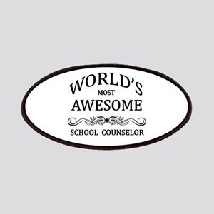 World's Most Awesome School Counselor Patches