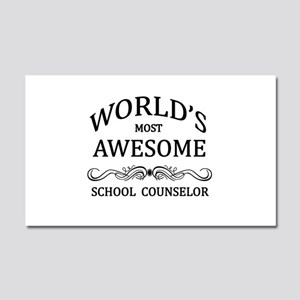 World's Most Awesome School Counselor Car Magnet 2