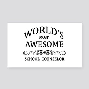 World's Most Awesome School Counselor Rectangle Ca