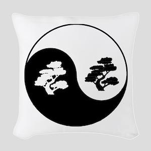 Bonsai Yin Yang Woven Throw Pillow