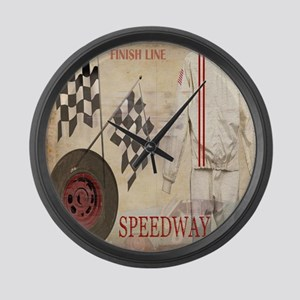 Speedway Large Wall Clock