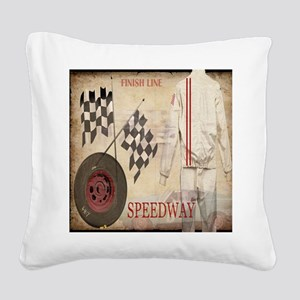 Speedway Square Canvas Pillow