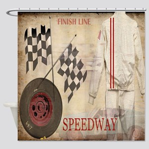 Speedway Shower Curtain
