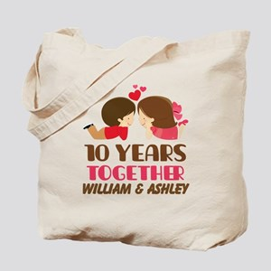 10th Anniversary Personalized Gift Tote Bag