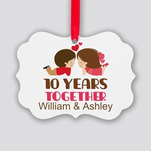 10th Anniversary Personalized Gift Ornament