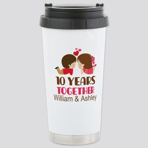 10th Anniversary Personalized Gift Mugs