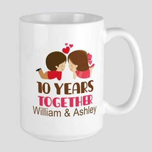 10th Anniversary Personalized Gift Mugs