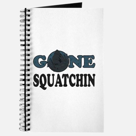 Gone Squatchin Yeti In Woods Journal
