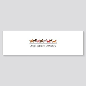 Authentic Cowboy Bumper Sticker