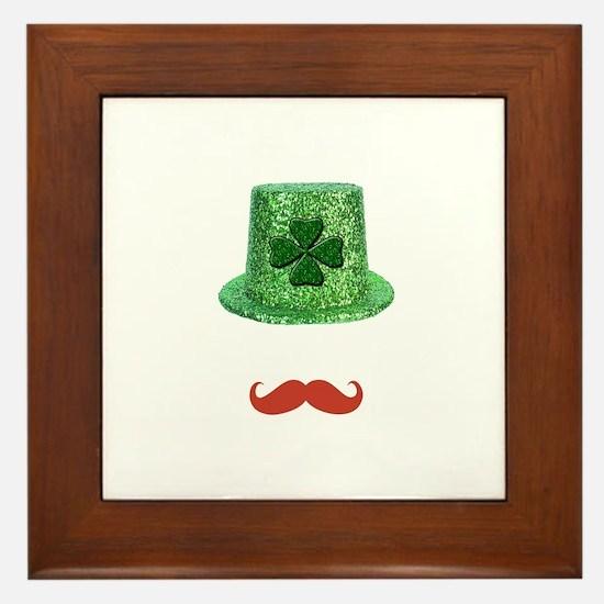 St Patrick's Day Sparkle Hat & Ginger Mustache Fra