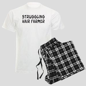 Struggling Hair Farmer Men's Light Pajamas