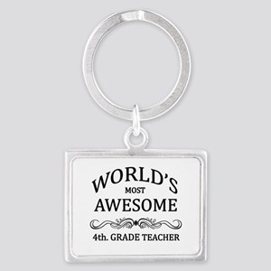 World's Most Awesome 4th. Grade Teacher Landscape