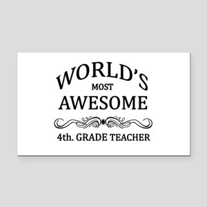 World's Most Awesome 4th. Grade Teacher Rectangle