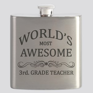 World's Most Awesome 3rd. Grade Teacher Flask