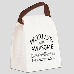 World's Most Awesome 3rd. Grade Teacher Canvas Lun