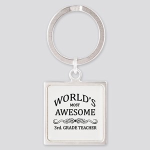 World's Most Awesome 3rd. Grade Teacher Square Key
