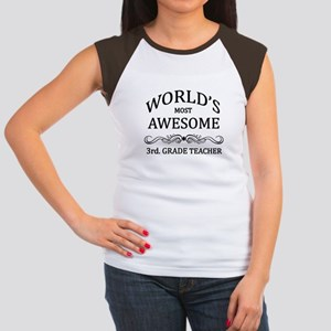 World's Most Awesome 3rd. Grade Teacher Women's Ca