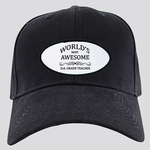 World's Most Awesome 3rd. Grade Teacher Black Cap