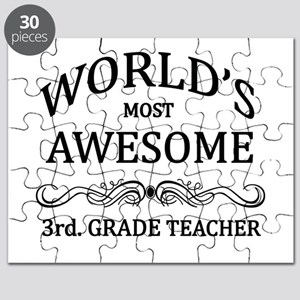World's Most Awesome 3rd. Grade Teacher Puzzle