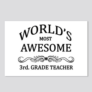 World's Most Awesome 3rd. Grade Teacher Postcards