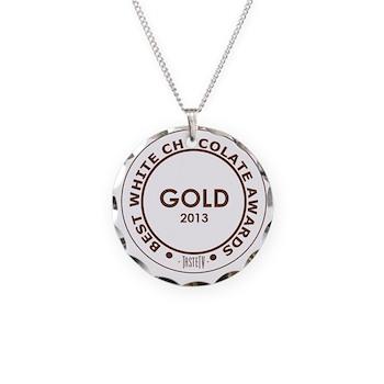 Necklace Circle Charm - White Chocolate Gold Award