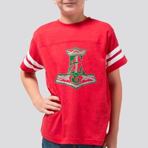 Green Celtic Thors Hammer Youth Football Shirt