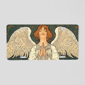 Vintage Angel Praying Aluminum License Plate