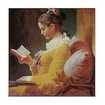 """Young Girl Reading"" Tile Coaster"