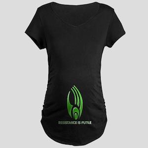 Borg Symbol Personalized Maternity Dark T-Shirt