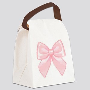 Girly Bow Canvas Lunch Bag