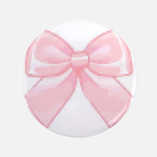 """Girly Bow 3.5"""" Button"""