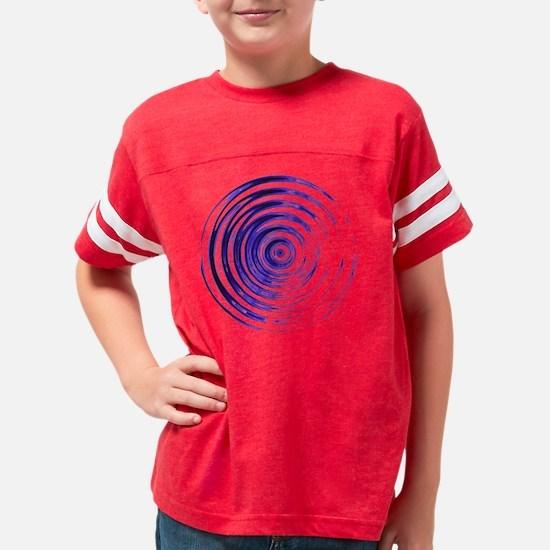 Blue Bullseye Youth Football Shirt