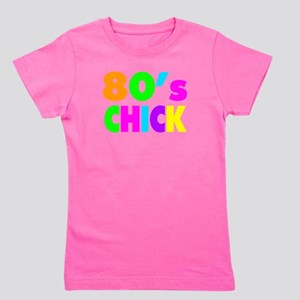 Neon Colors 80's Chick Girl's Tee