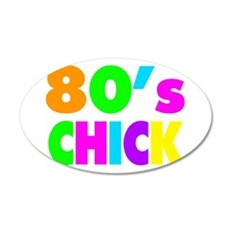 Neon Colors 80's Chick Wall Decal