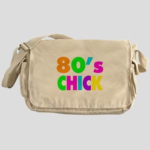 Neon Colors 80's Chick Messenger Bag