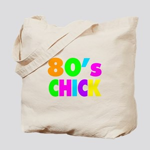 Neon Colors 80's Chick Tote Bag
